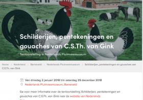 Tentoonstelling C.S.Th. van Gink